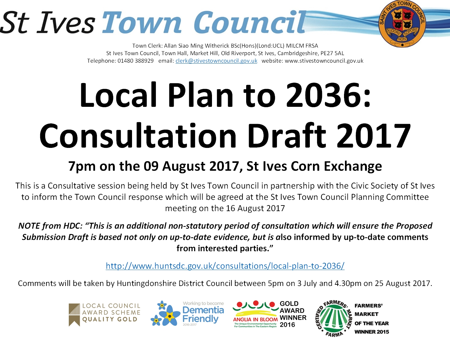 Town Council Consultation Session