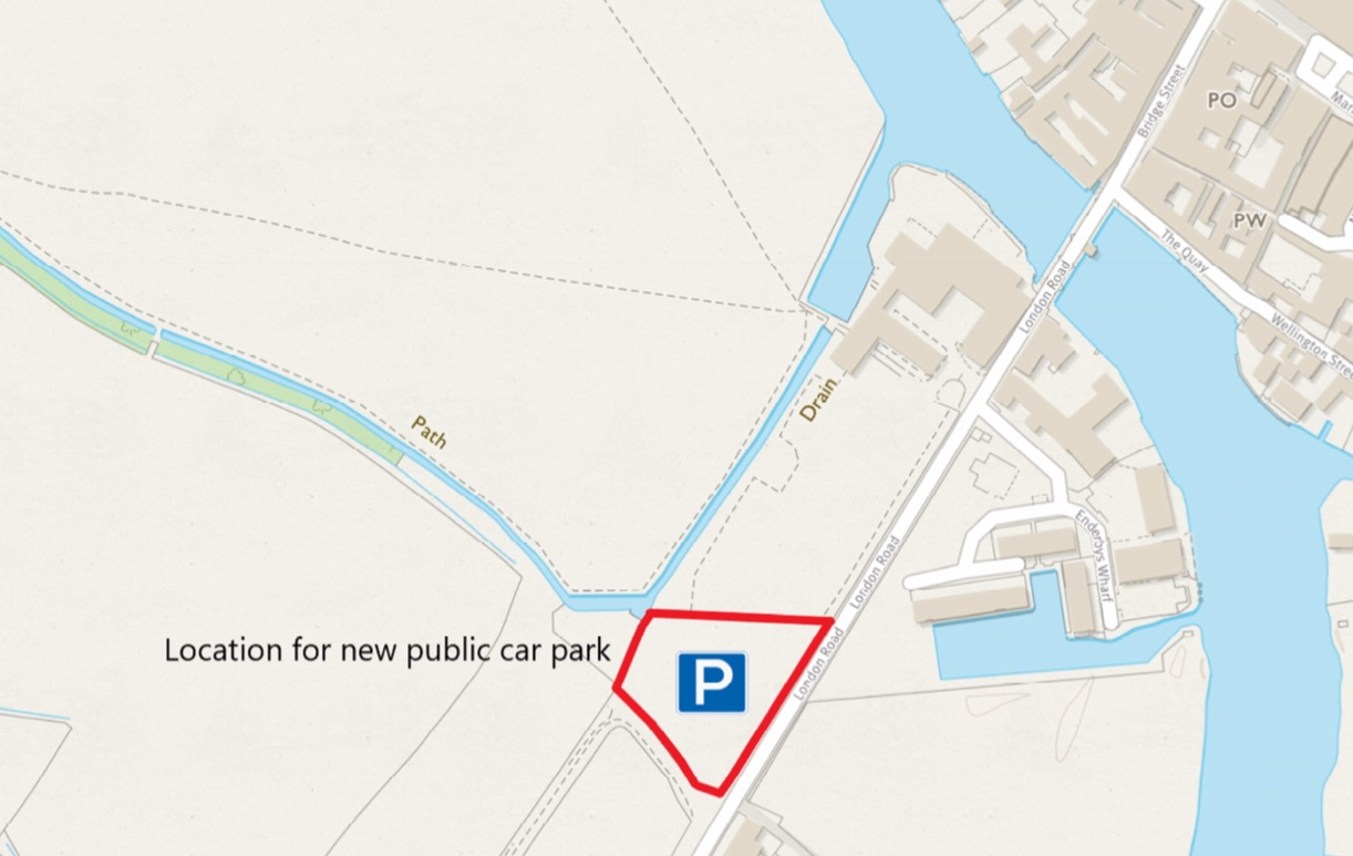 Map of proposed car park